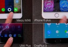 umi plus vs oneplus 3 vs iphone 6 plus