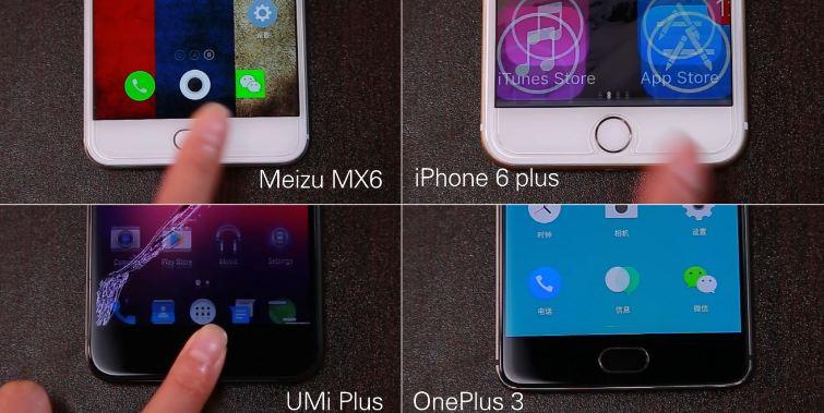 umi plus vs oneplus 3 vs iphone 6 plus