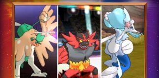 pokemon sun and moon starter pokemon final evolutions