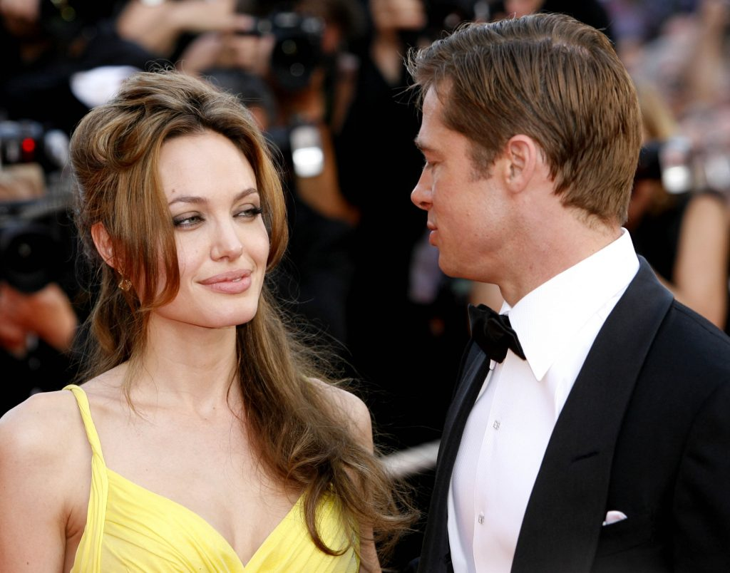 Angelina Jolie and Brad Pitt (Photo by Richard Lewis/WireImage)