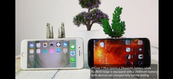 Bluboo Edge vs iPhone 7 Plus