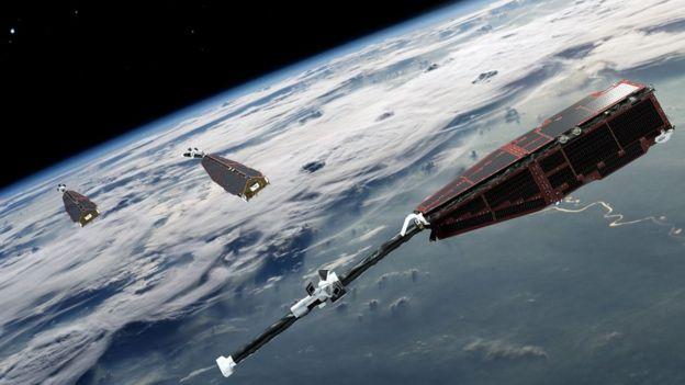 Swarm Satellites Image Courtesy of ESA