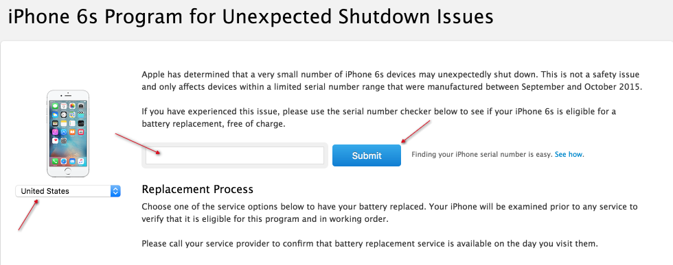 apple iphone 6s shutdown problems and battery replacement