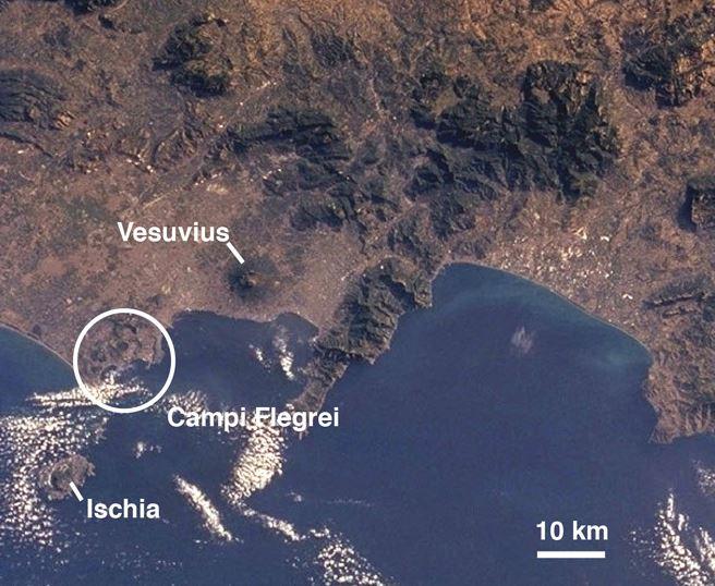 The Campi Flegrei in Italy (via Wired)