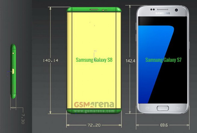Samsung Galaxy S8 Unofficial Renders Image Courtesy Of GSM Arena