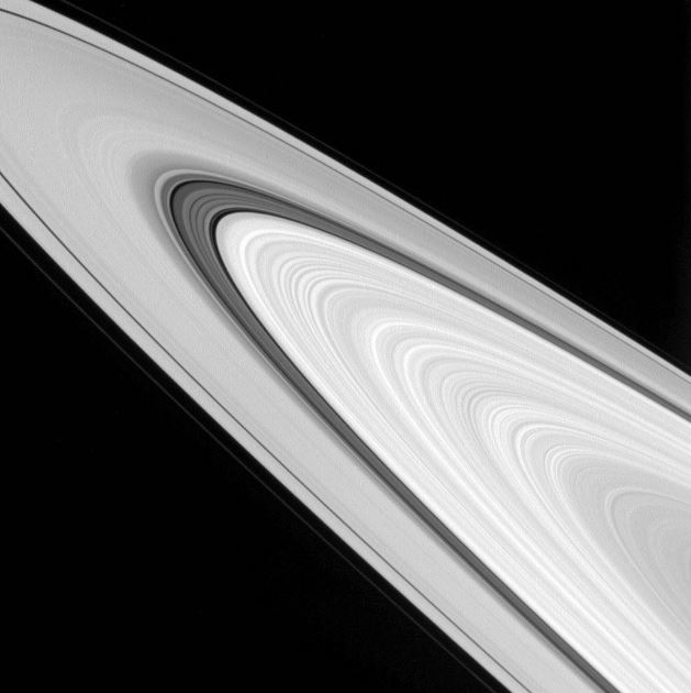 Saturn ring details captured by Cassini (image source: NASA)