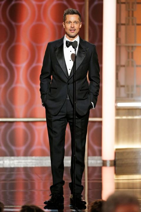 Brad Pitt at 74th Golden Globe Awards (image source: Getty images)