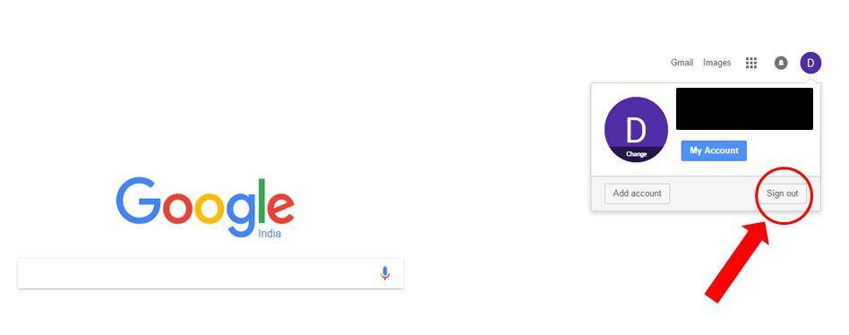 google mail change default account