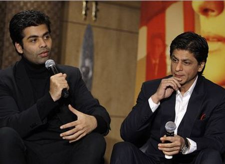 Karan Johar and Shah Rukh Khan (image source: emirates)