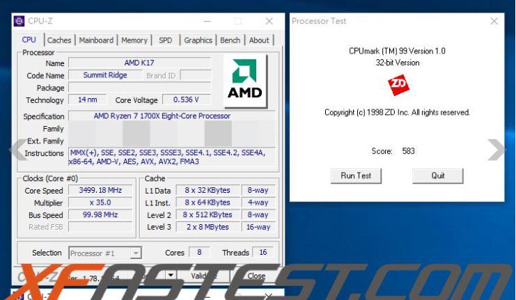 AMD Ryzen 7 1700X Fire Strike Physics