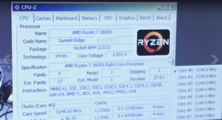 Ryzen 7 1800x breaks cinebench record
