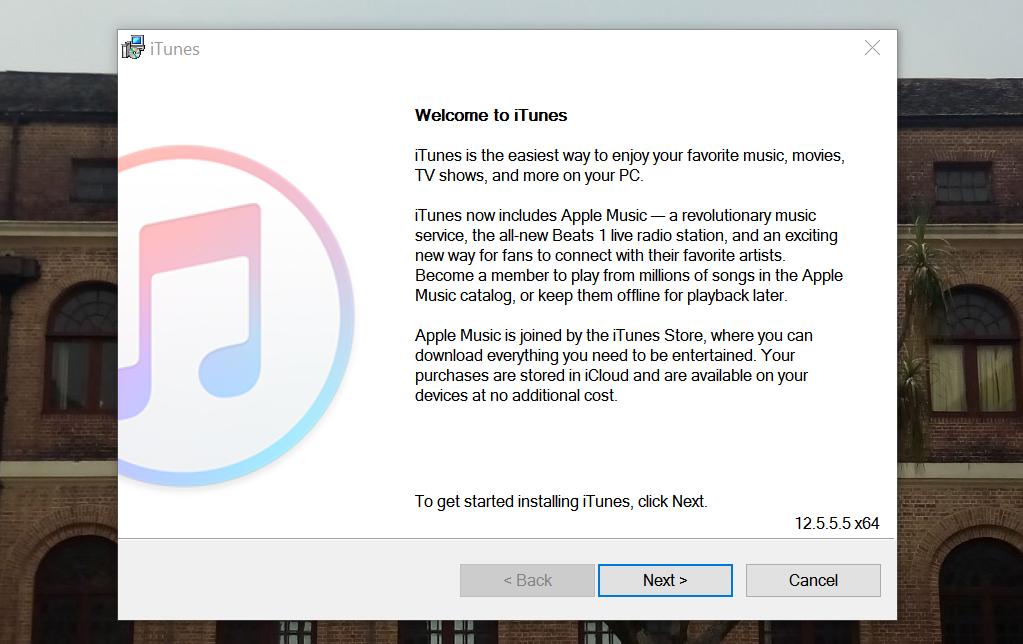 install itunes on windows 10