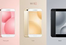 Xiaomi Mi 5C colors