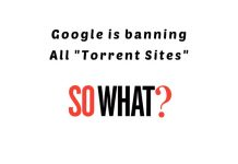 google banning torrent sites
