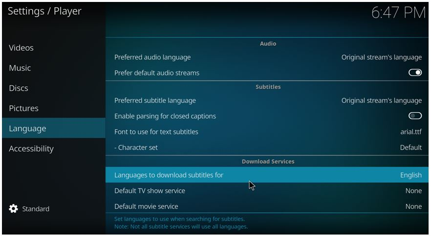 how to activate subtitles on kodi 17