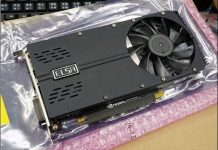 single slot ultra-thin ELSA GTX 1050 Ti graphics card