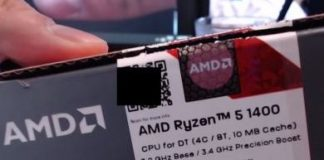 AMD Ryzen 5 1400 benchmarks leaked