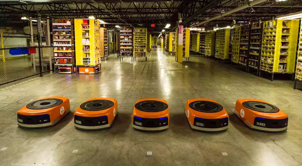 Amazon orange robots