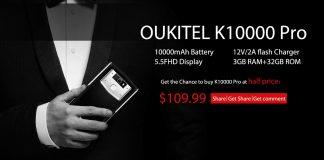 Buy OUKITEL K10000 Pro at half price activity