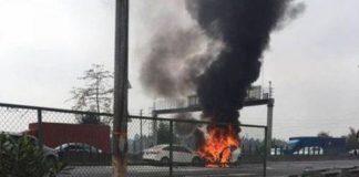 Tesla Model X explosion China