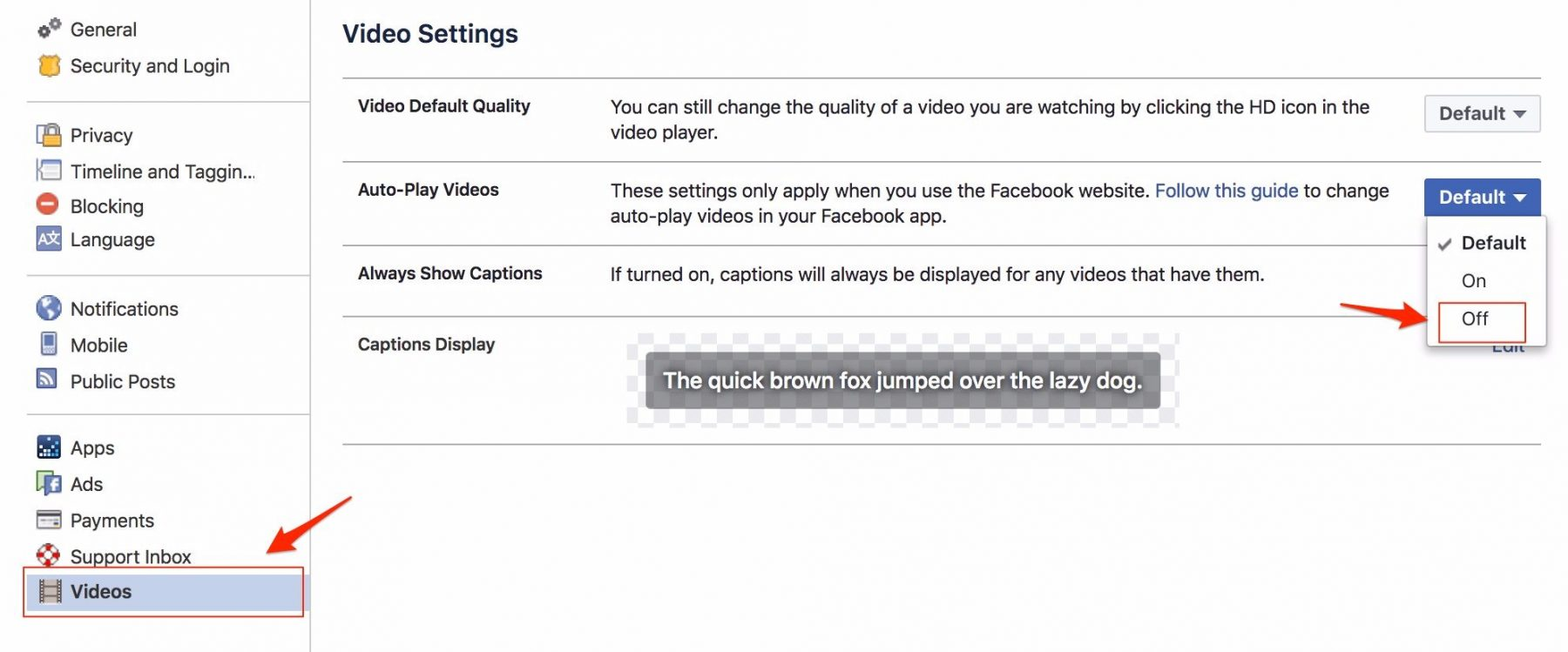 how to disable facebook video ads from auto playing