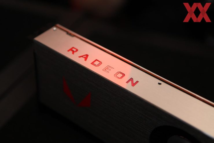AMD Vega 64 Liquid Edition graphics card pictured