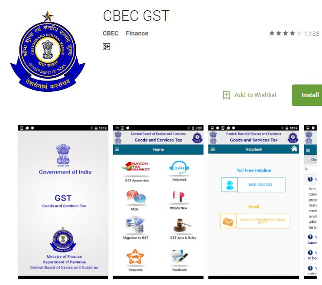 gst rate calculator apps