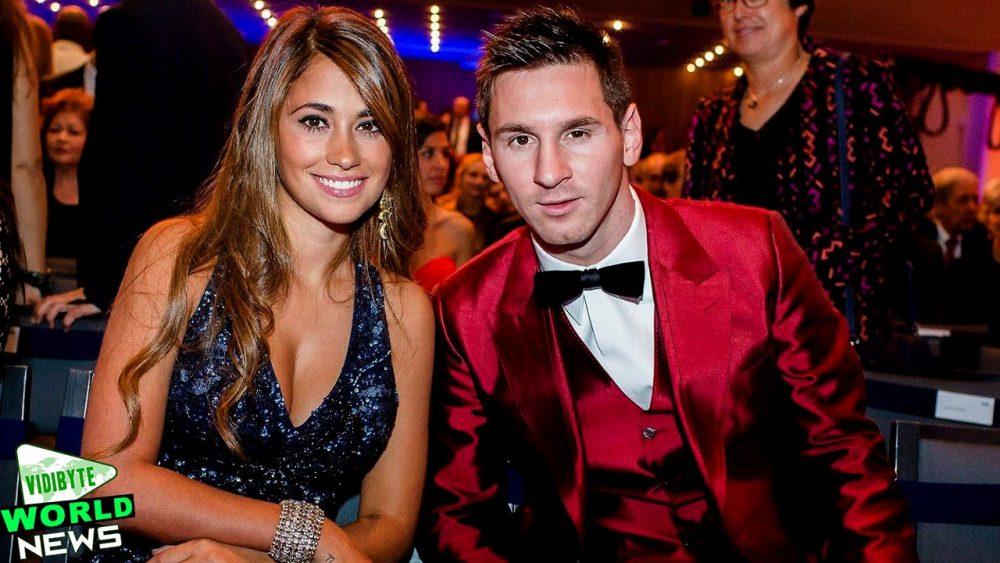Lionel Messi and Antonella Rocuzzo