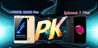 OUKITEL K6000 Plus vs iPhone 7 Plus Charging Speed