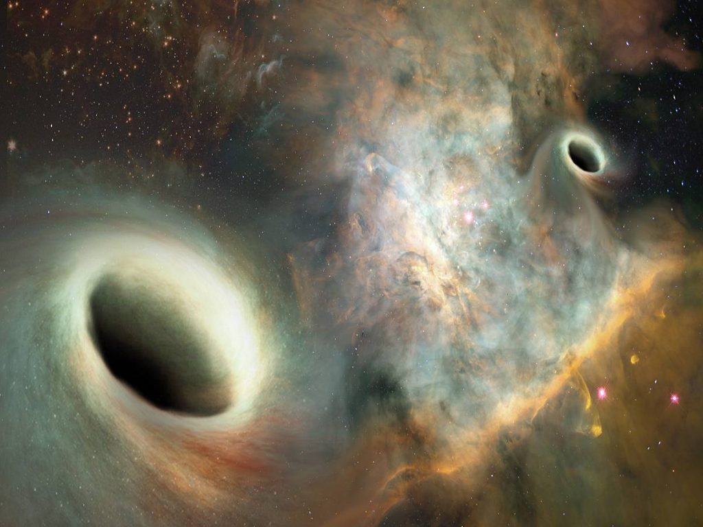orbiting supermassive blackholes