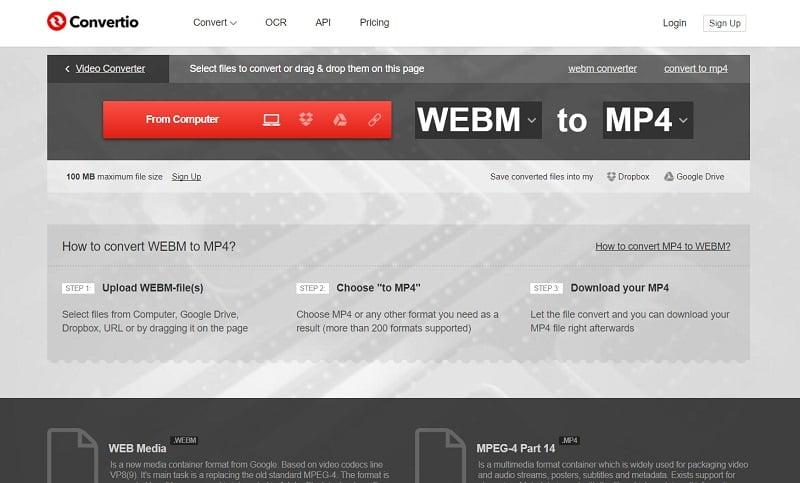 webm to mp4 converter