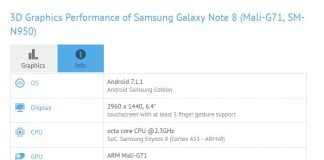 Galaxy Note 8 on GFXBench