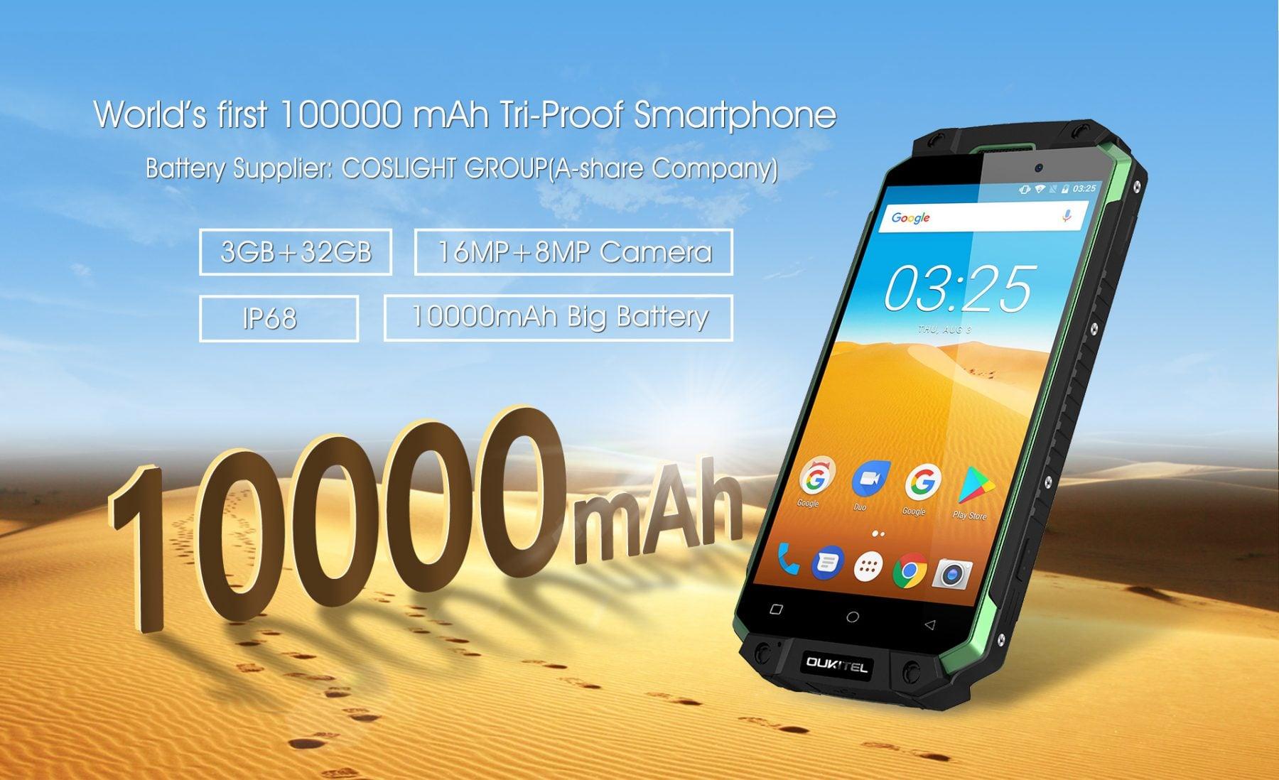 K10000 MAX 10000mAh battery from COSLIGHT