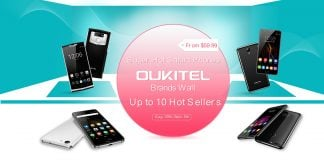 OUKITEL brand flash sale on Gearbest