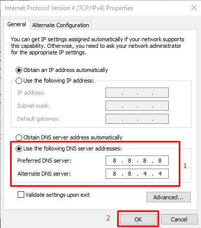change dns in windows pc to fix DNS_PROBE_FINISHED_NXDOMAIN