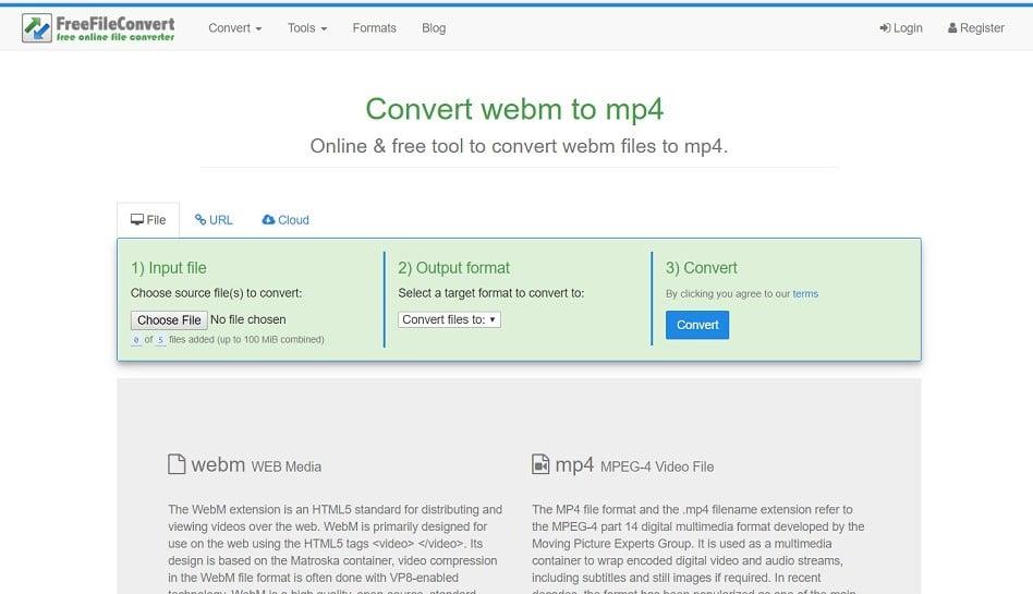 webm to mp4 video converter