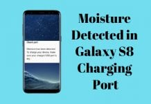 galaxy s8 moisture detected in charging port