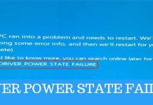 driver power state failure windows 10 blue screen error bsod
