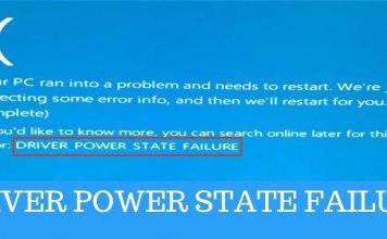 driver power state failure windows 10 blue screen error bsod