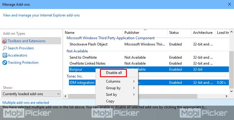 internet explorer stopped working