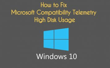 Windows 10 Microsoft Compatibility Telemetry High Disk Usage