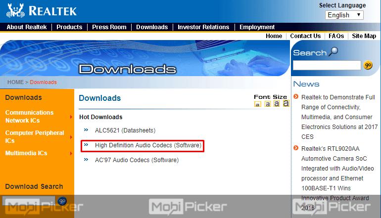 Realtek HD Audio Manager windows 10