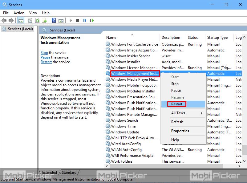 WMI Provider Host high cpu