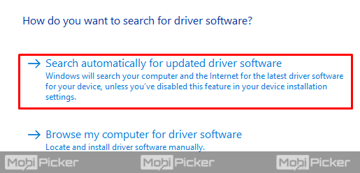 search driver updates automatically windows 10