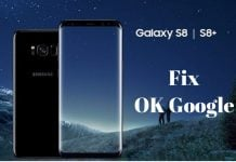 ok google not working on galaxy s8