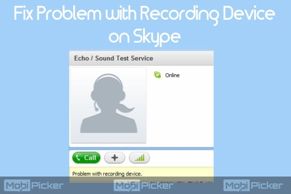 skype problem with recording device