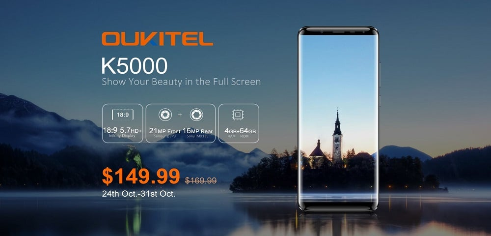 OUKITEL K5000 Presale Kick Starts; Available for $150 for a Limited Time