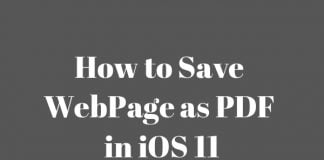 how to save webpage as pdf in ios 11