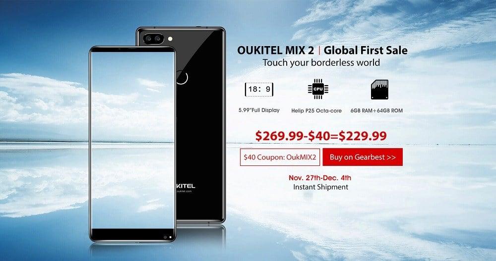OUKITEL MIX 2 Global Sale