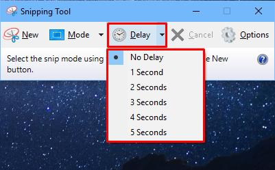 how to use windows 10 snipping tool